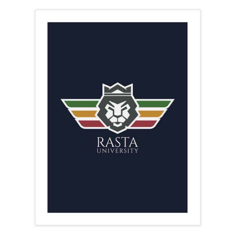 Lion Rasta University Logo (Light) Home Fine Art Print by Rasta University Shop