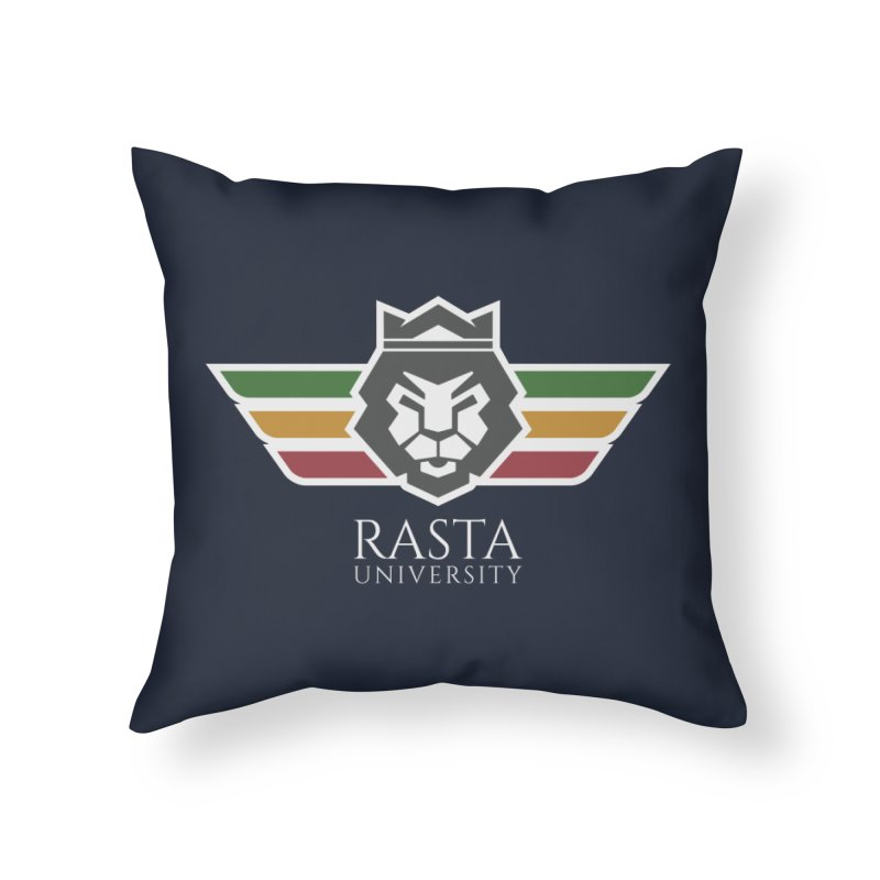 Lion Rasta University Logo (Light) Home Throw Pillow by Rasta University Shop