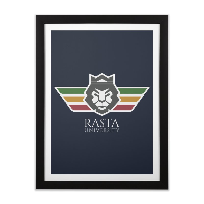 Lion Rasta University Logo (Light) Home Framed Fine Art Print by Rasta University Shop