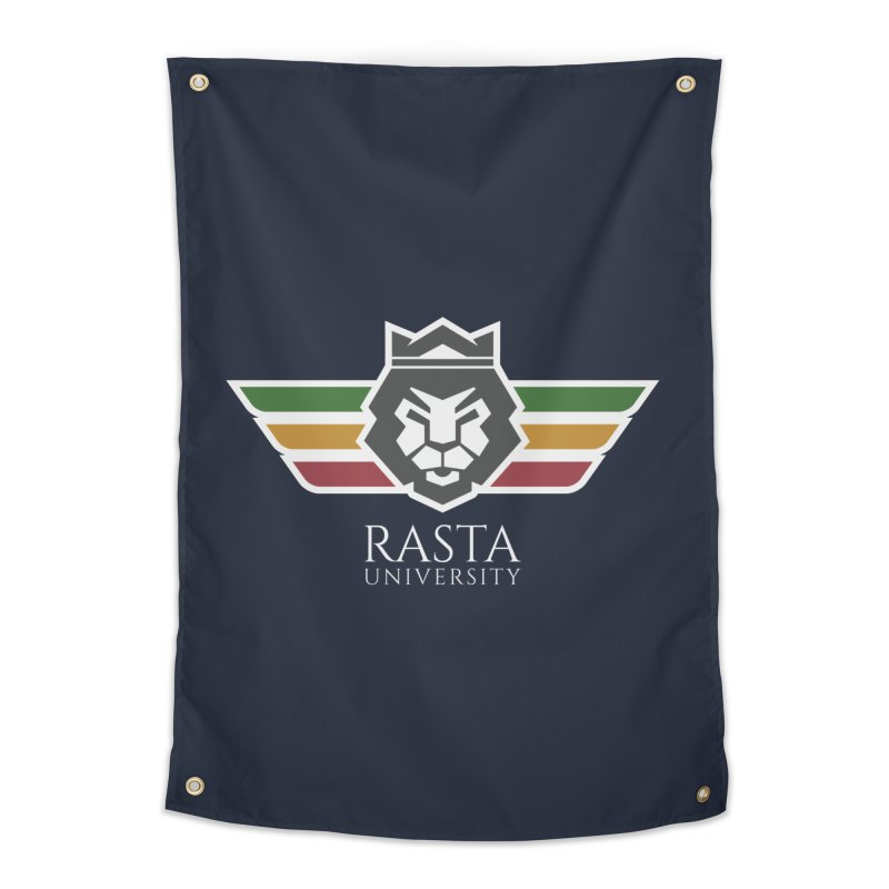 Lion Rasta University Logo (Light) Home Tapestry by Rasta University Shop