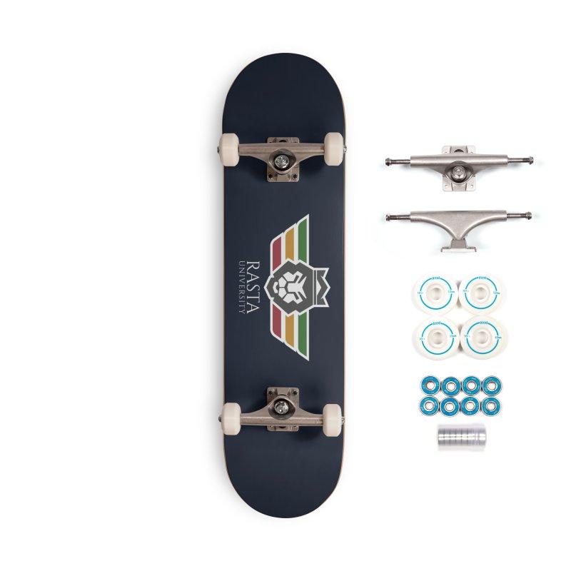 Lion Rasta University Logo (Light) Accessories Complete - Basic Skateboard by Rasta University Shop