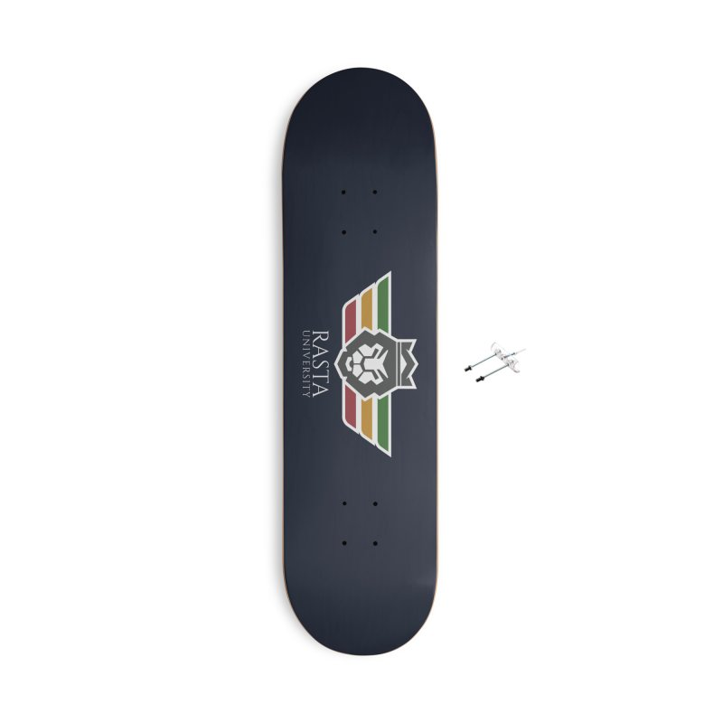 Lion Rasta University Logo (Light) Accessories With Hanging Hardware Skateboard by Rasta University Shop