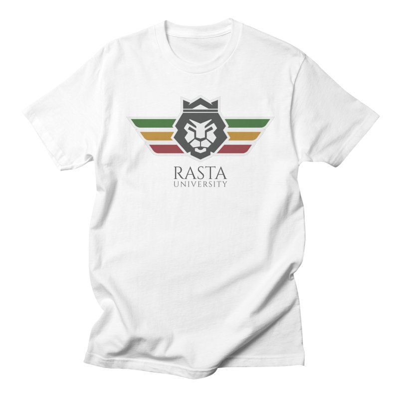 Lion Rasta University Logo (Dark) in Men's Regular T-Shirt White by Rasta University Shop