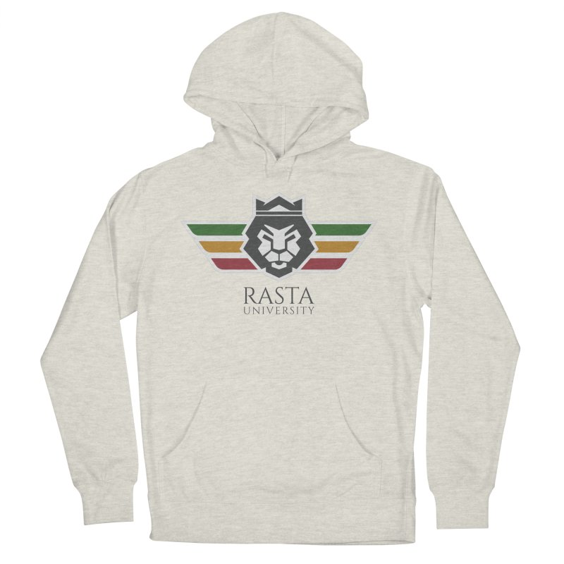 Lion Rasta University Logo (Dark) Women's French Terry Pullover Hoody by Rasta University Shop