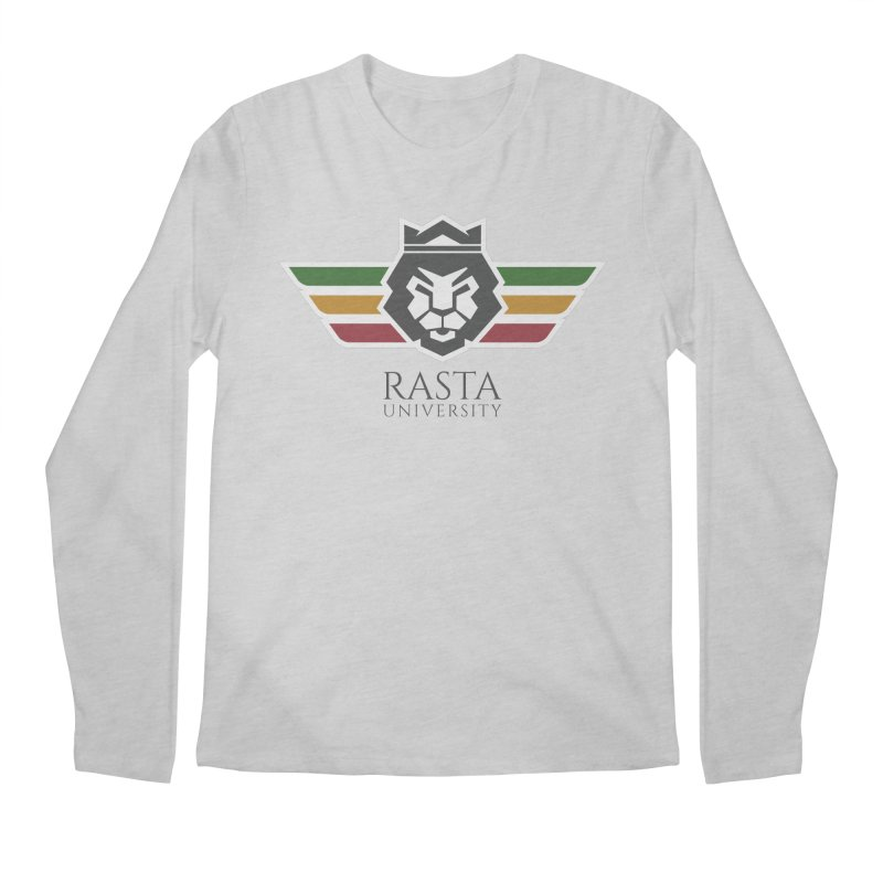 Lion Rasta University Logo (Dark) Men's Longsleeve T-Shirt by Rasta University Shop