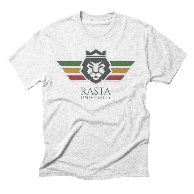 Lion Rasta University Logo (Dark) Men's Triblend T-shirt by Rasta University Shop