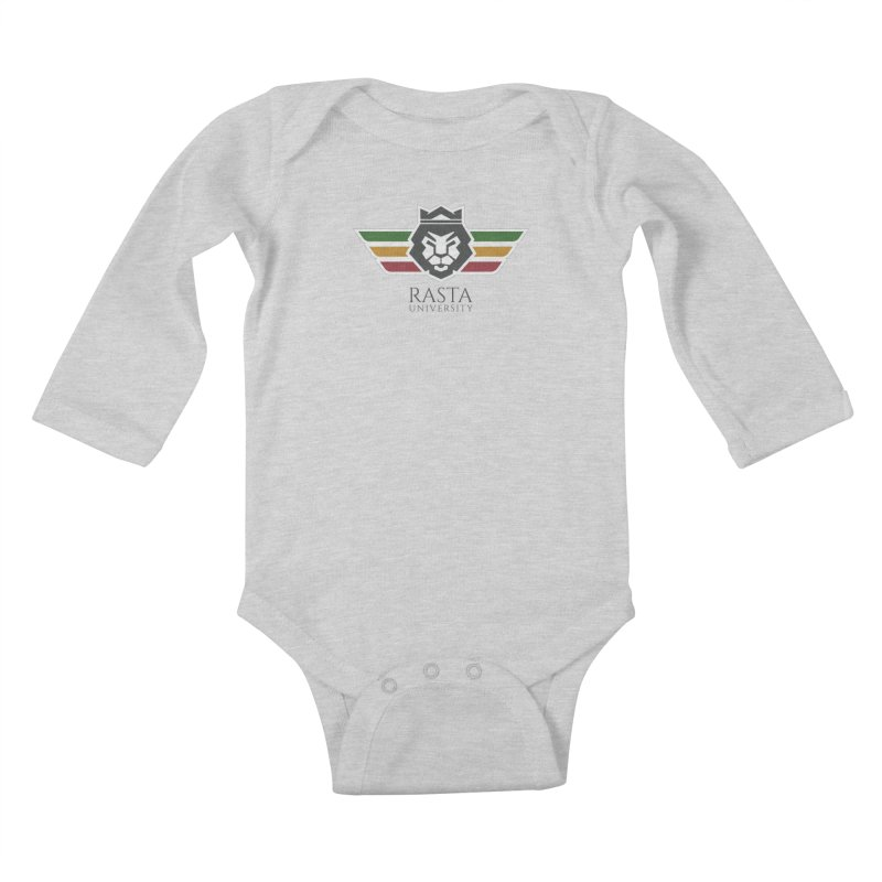 Lion Rasta University Logo (Dark) Kids Baby Longsleeve Bodysuit by Rasta University Shop