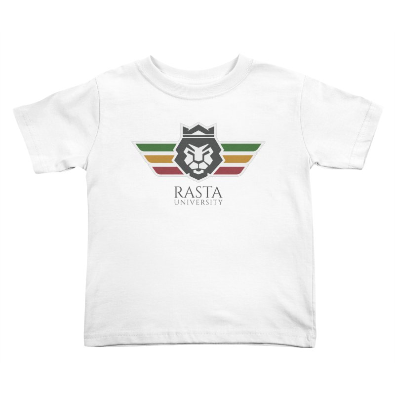 Lion Rasta University Logo (Dark) Kids Toddler T-Shirt by Rasta University Shop