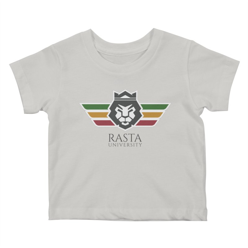 Lion Rasta University Logo (Dark) Kids Baby T-Shirt by Rasta University Shop