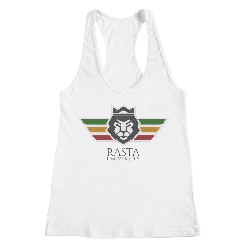 Lion Rasta University Logo (Dark) Women's Racerback Tank by Rasta University Shop