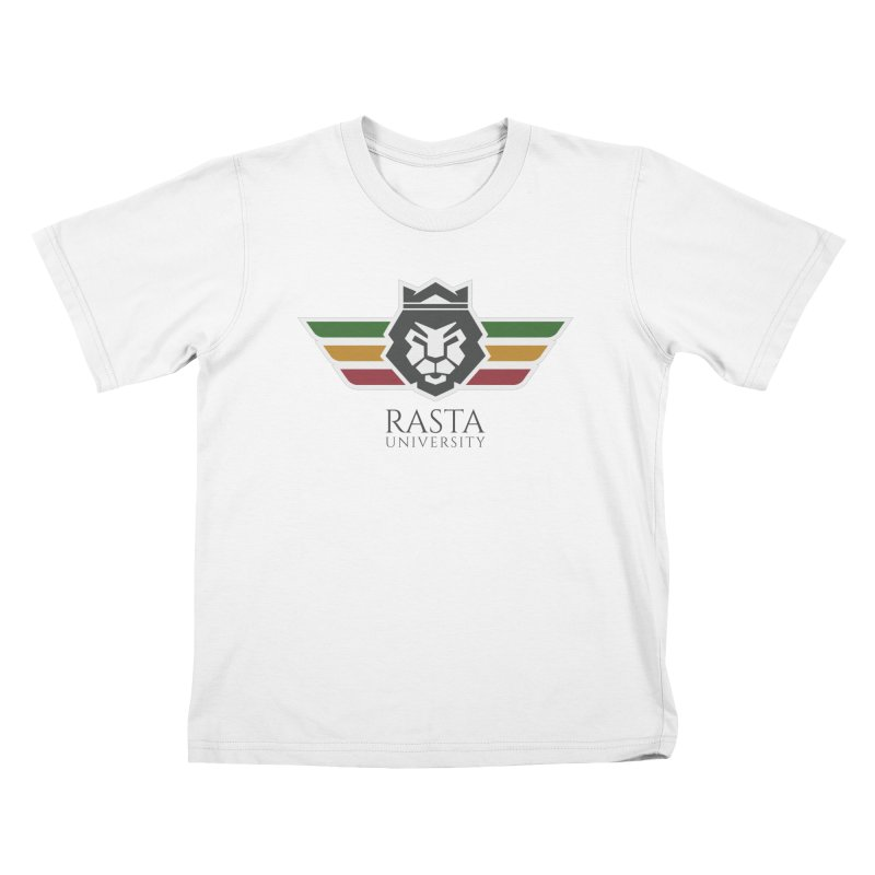 Lion Rasta University Logo (Dark) Kids T-Shirt by Rasta University Shop