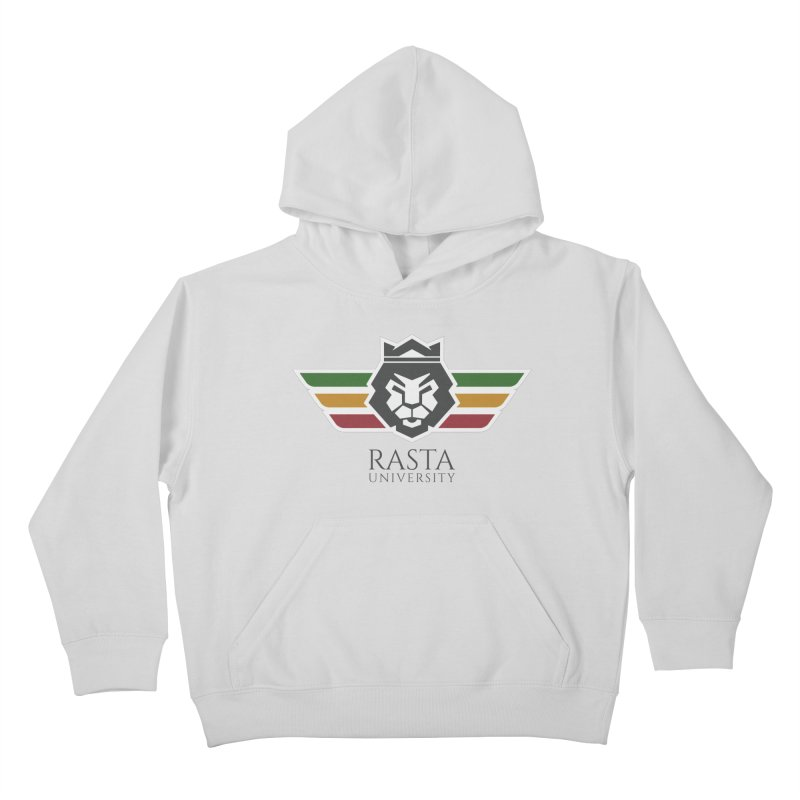 Lion Rasta University Logo (Dark) Kids Pullover Hoody by Rasta University Shop