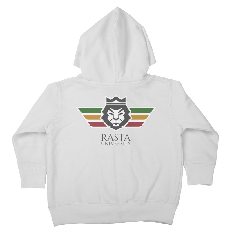 Lion Rasta University Logo (Dark) Kids Toddler Zip-Up Hoody by Rasta University Shop