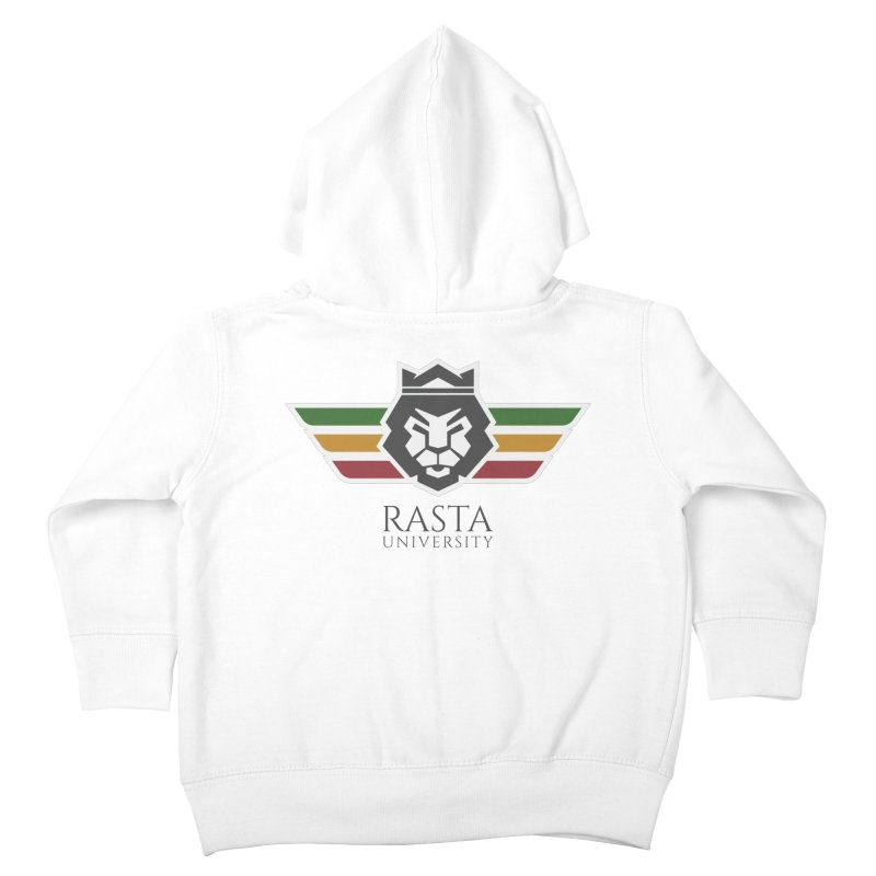 Lion Rasta University Logo (Dark) Kids Toddler Zip-Up Hoody by Rasta University Shop
