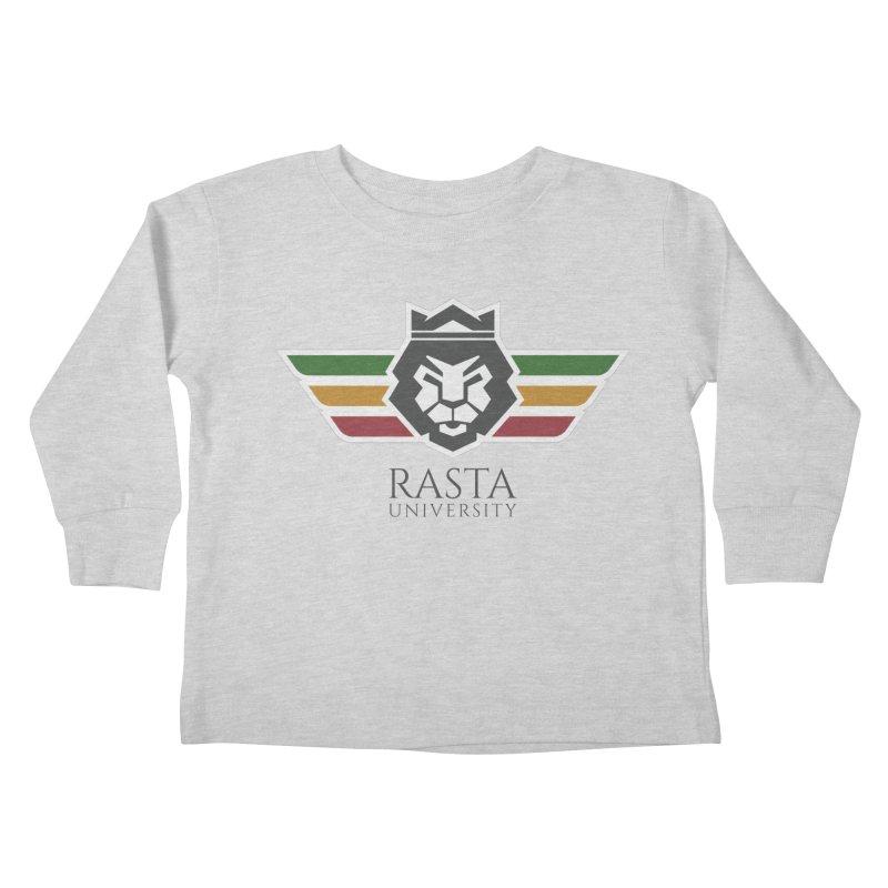 Lion Rasta University Logo (Dark) Kids Toddler Longsleeve T-Shirt by Rasta University Shop