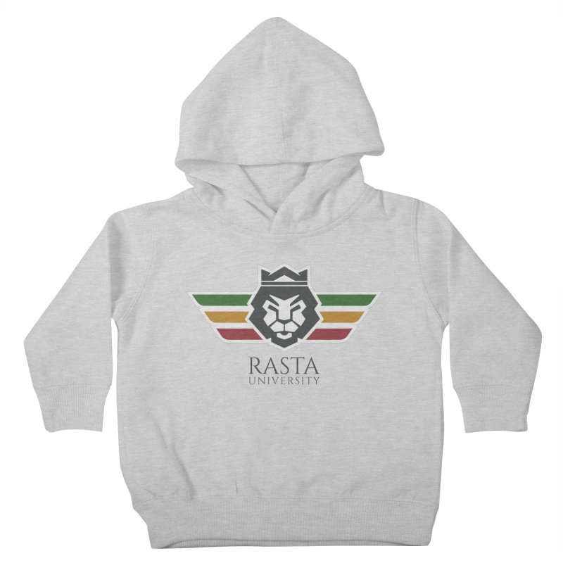 Lion Rasta University Logo (Dark) Kids Toddler Pullover Hoody by Rasta University Shop