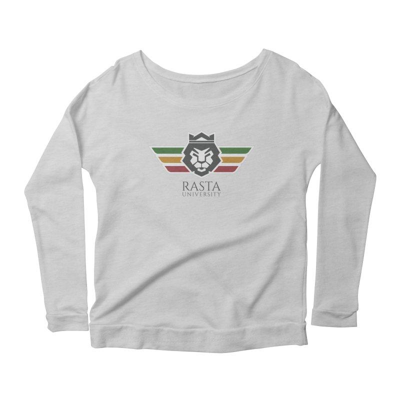Lion Rasta University Logo (Dark) Women's Scoop Neck Longsleeve T-Shirt by Rasta University Shop