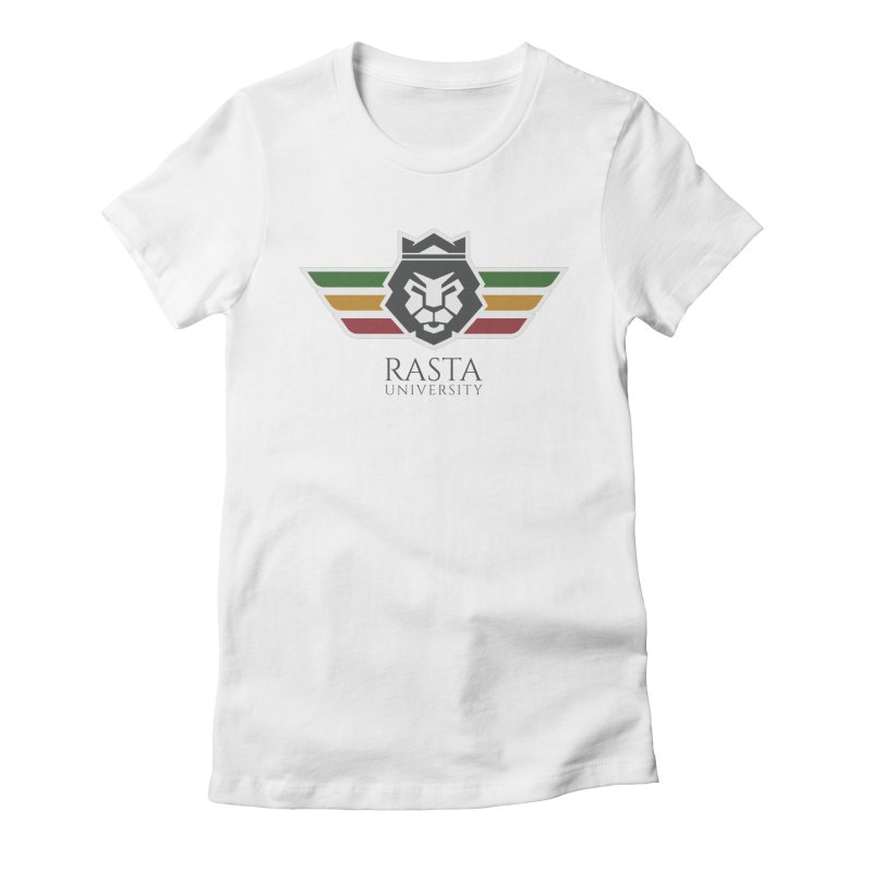 Lion Rasta University Logo (Dark) Women's Fitted T-Shirt by Rasta University Shop