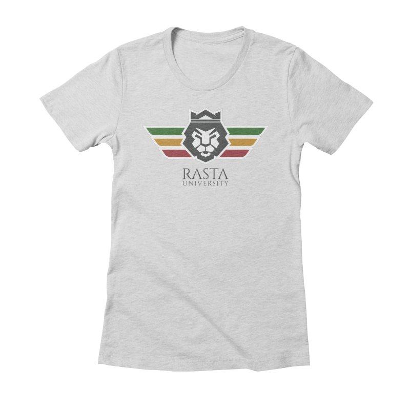 Lion Rasta University Logo (Dark) Women's Fitted T-Shirt by Rasta University Shop