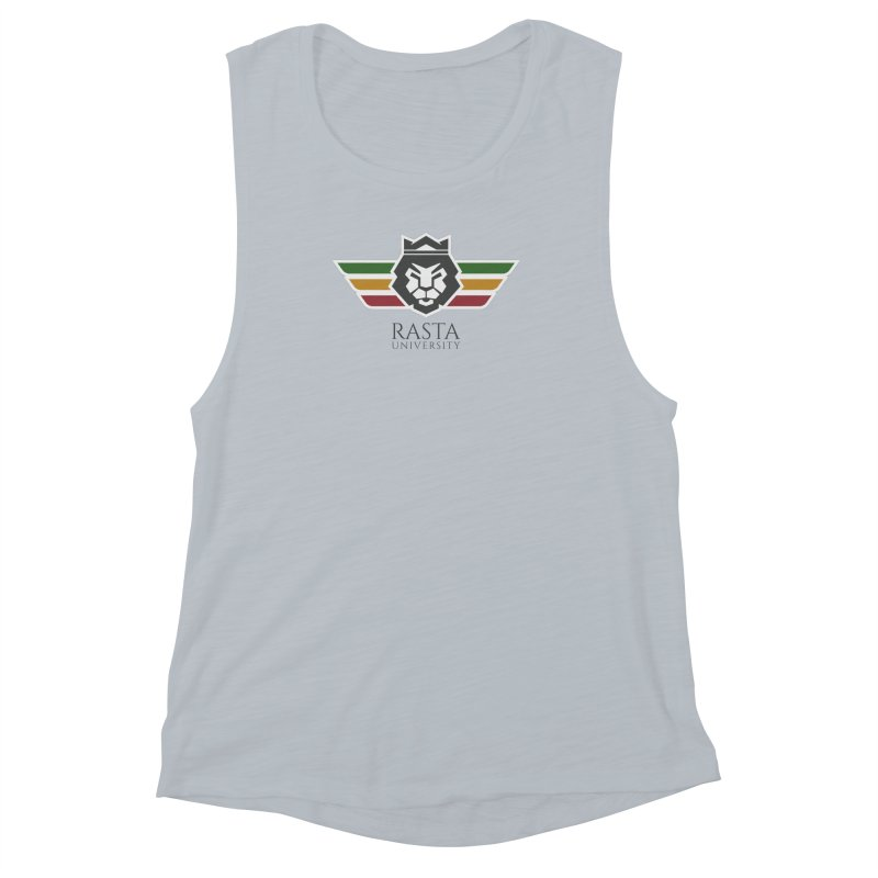 Lion Rasta University Logo (Dark) Women's Muscle Tank by Rasta University Shop