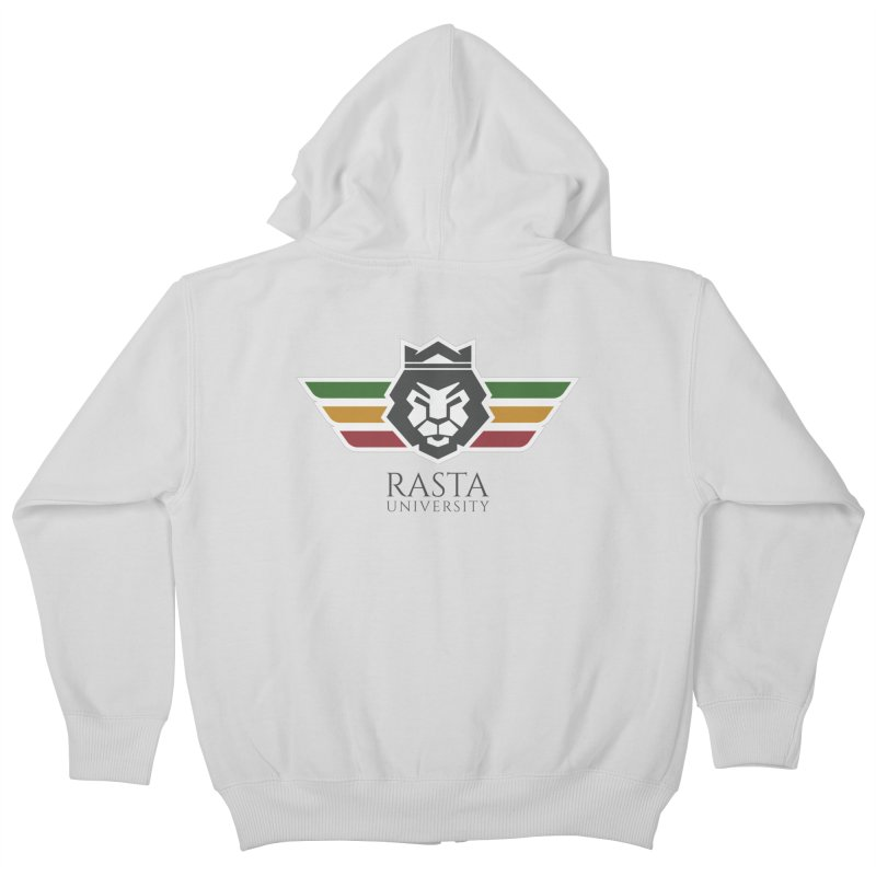 Lion Rasta University Logo (Dark) Kids Zip-Up Hoody by Rasta University Shop