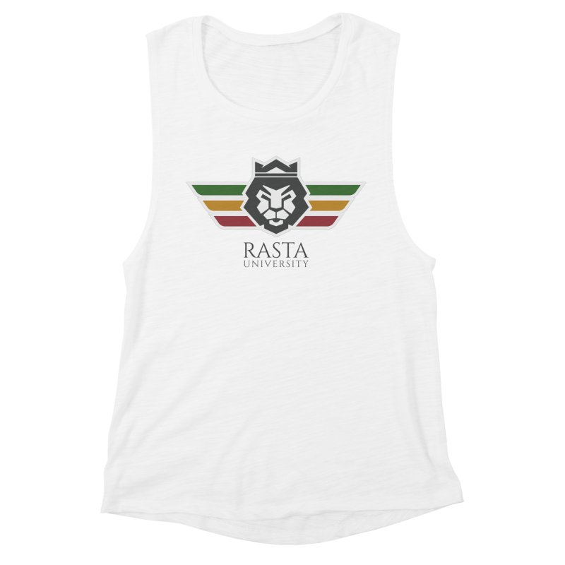 Lion Rasta University Logo (Dark) Women's Muscle Tank by Rasta University Shop