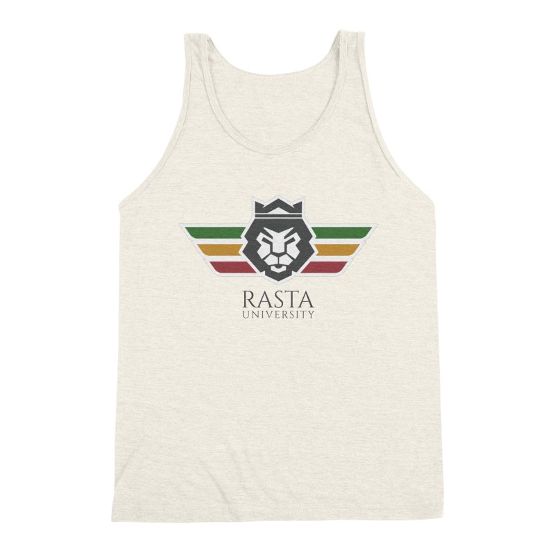 Lion Rasta University Logo (Dark) Men's Triblend Tank by Rasta University Shop