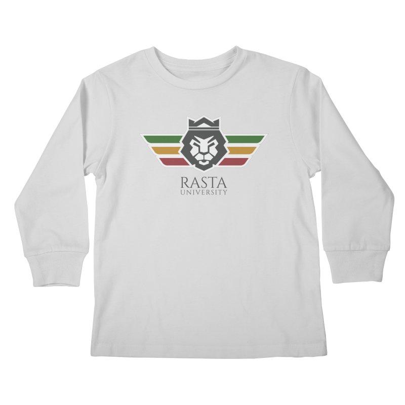 Lion Rasta University Logo (Dark) Kids Longsleeve T-Shirt by Rasta University Shop