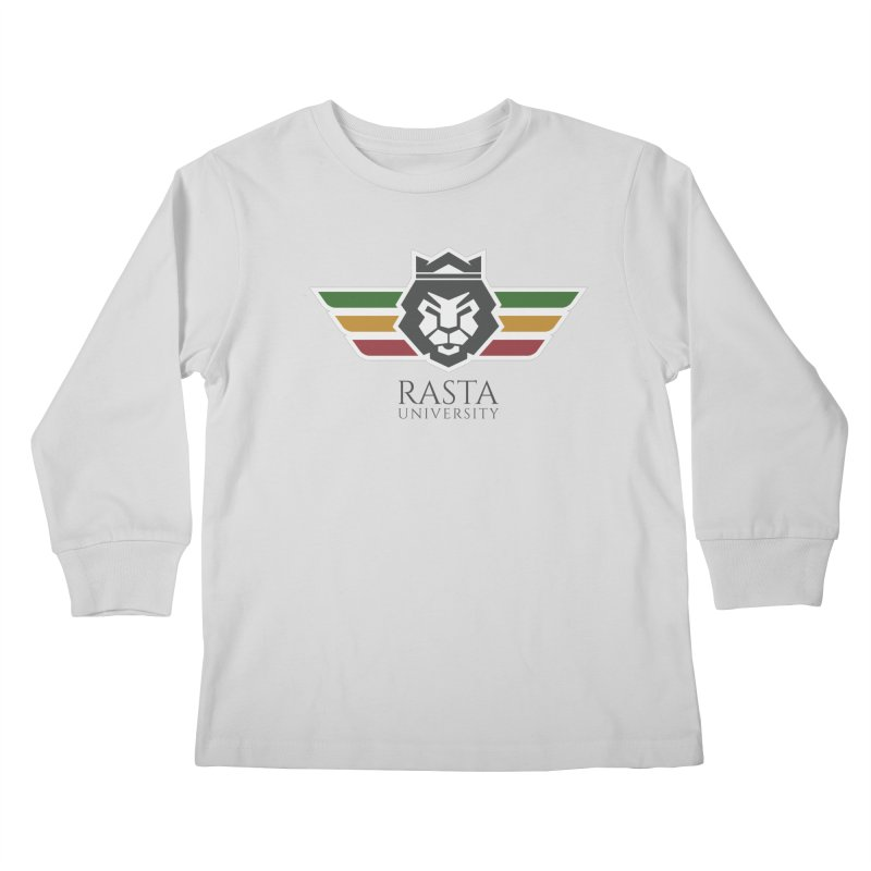 Lion Rasta University Logo (Dark) Kids Longsleeve T-Shirt by Rasta University Shop