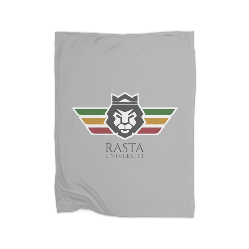 Lion Rasta University Logo (Dark) Home Blanket by Rasta University Shop