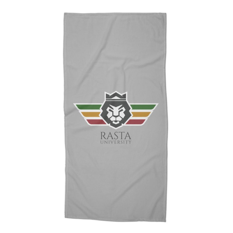 Lion Rasta University Logo (Dark) Accessories Beach Towel by Rasta University Shop