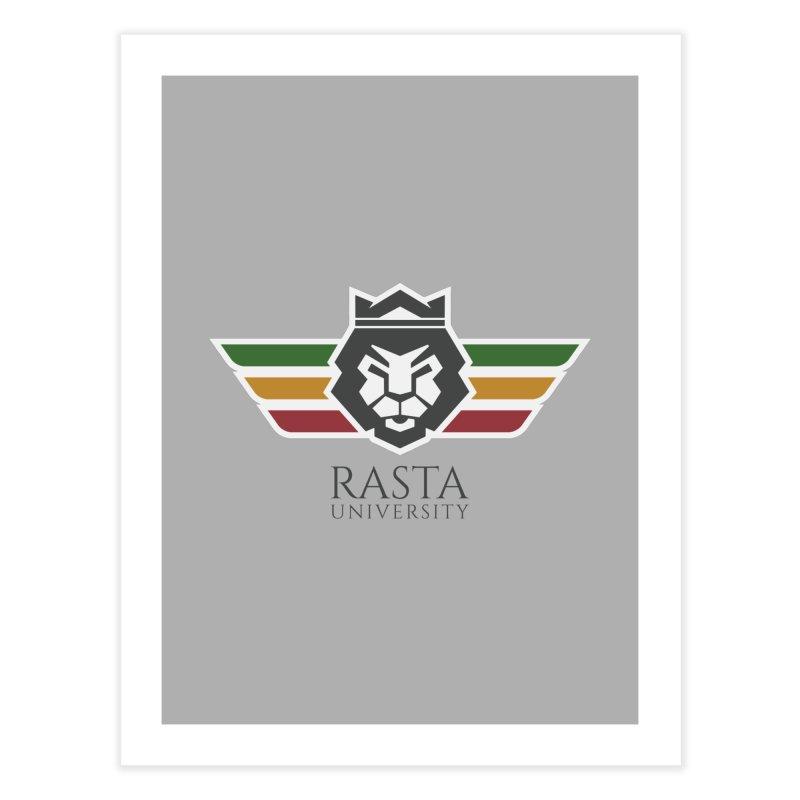 Lion Rasta University Logo (Dark) Home Fine Art Print by Rasta University Shop