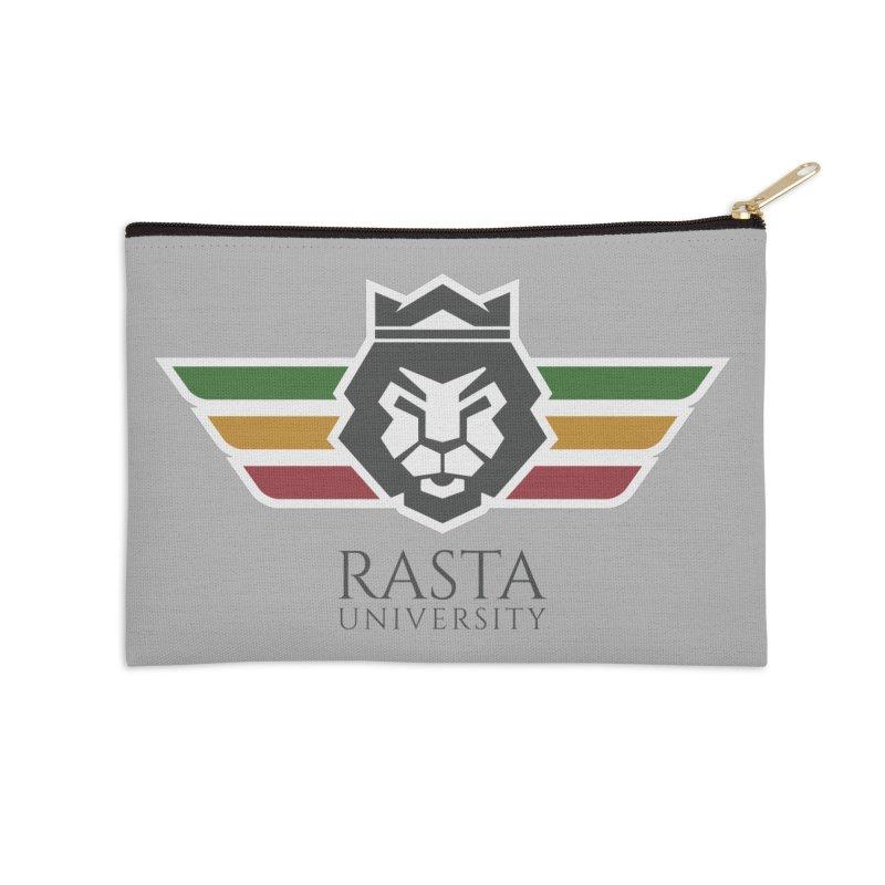 Lion Rasta University Logo (Dark) Accessories Zip Pouch by Rasta University Shop