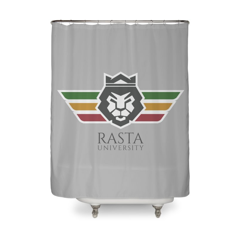Lion Rasta University Logo (Dark) Home Shower Curtain by Rasta University Shop