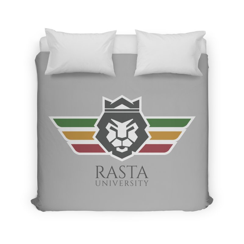 Lion Rasta University Logo (Dark) Home Duvet by Rasta University Shop