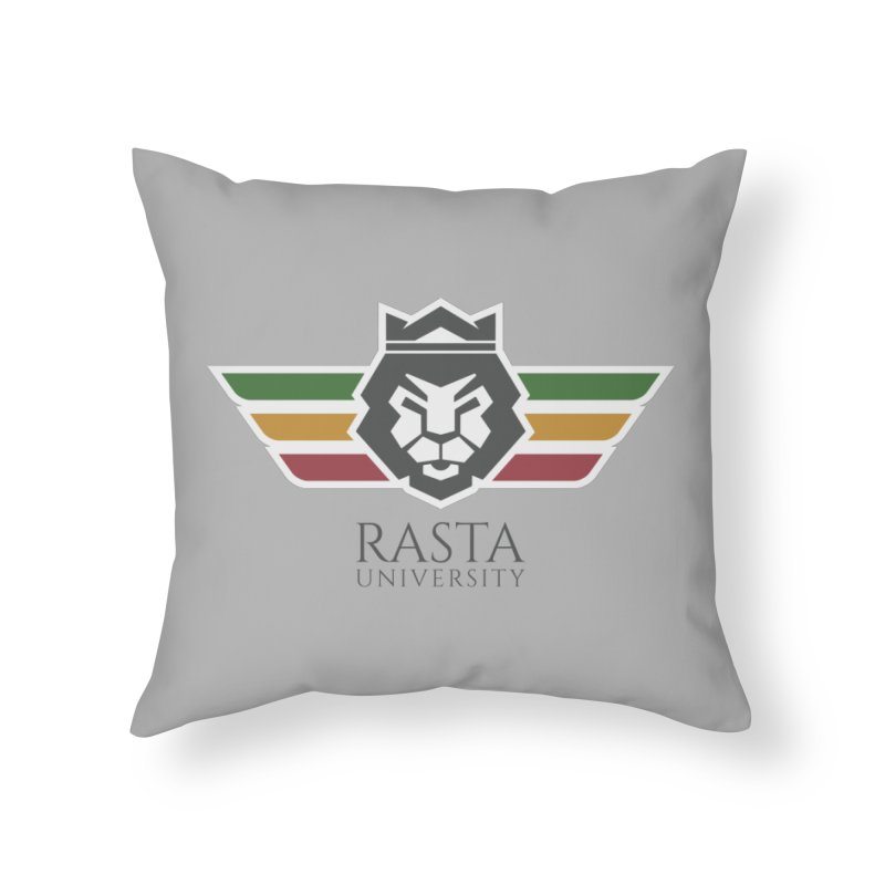 Lion Rasta University Logo (Dark) Home Throw Pillow by Rasta University Shop