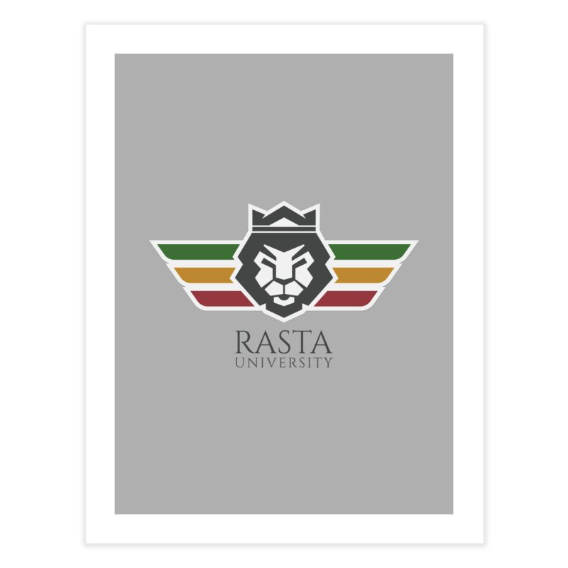 Lion Rasta University Logo (Dark) Home Fine Art Print by Rasta University Shop