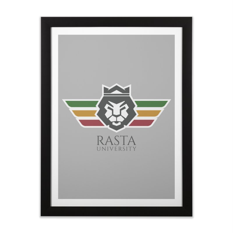 Lion Rasta University Logo (Dark) Home Framed Fine Art Print by Rasta University Shop