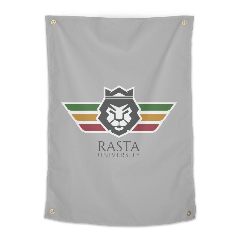 Lion Rasta University Logo (Dark) Home Tapestry by Rasta University Shop