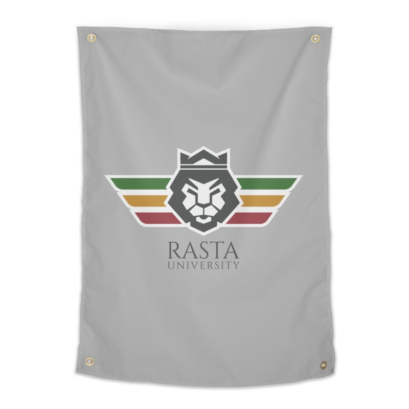Lion Rasta University Logo (Dark) Home Tapestry by Rasta University Shop