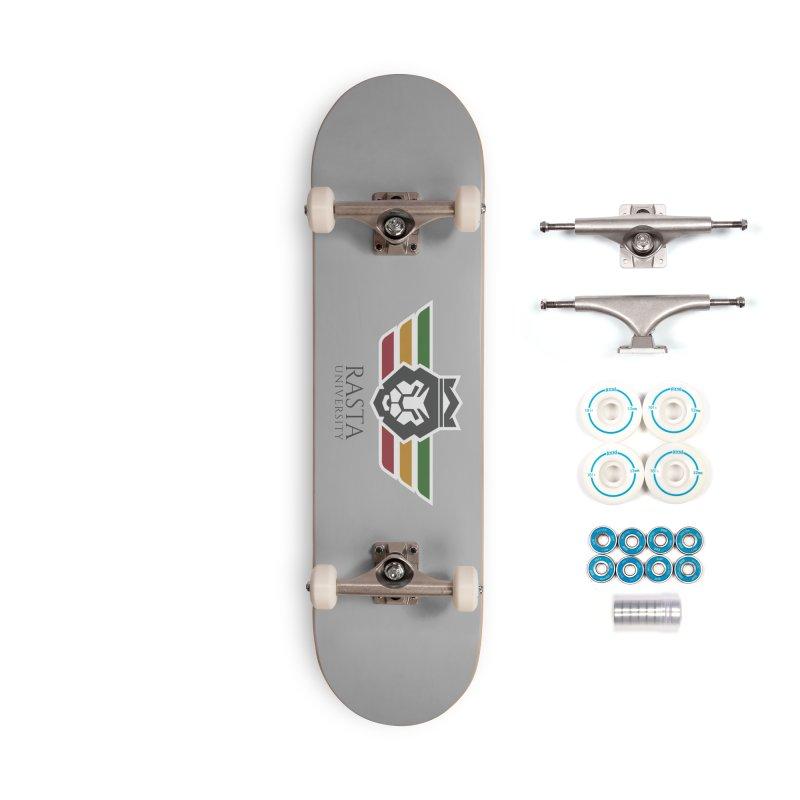 Lion Rasta University Logo (Dark) Accessories Complete - Basic Skateboard by Rasta University Shop