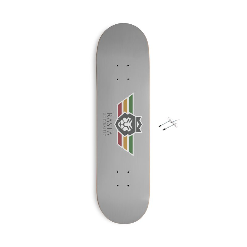 Lion Rasta University Logo (Dark) Accessories With Hanging Hardware Skateboard by Rasta University Shop