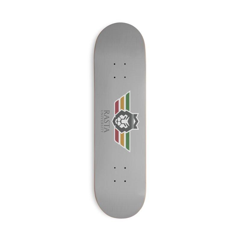 Lion Rasta University Logo (Dark) Accessories Skateboard by Rasta University Shop