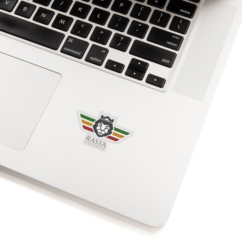 Lion Rasta University Logo (Dark) Accessories Sticker by Rasta University Shop