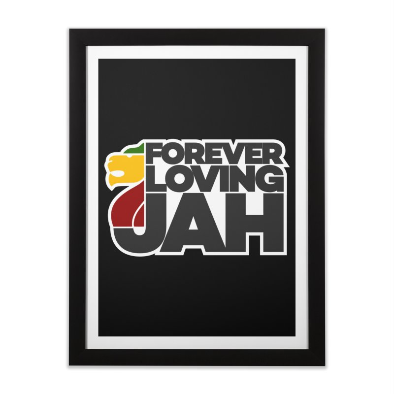 Forever Loving Jah Home Framed Fine Art Print by Rasta University Shop