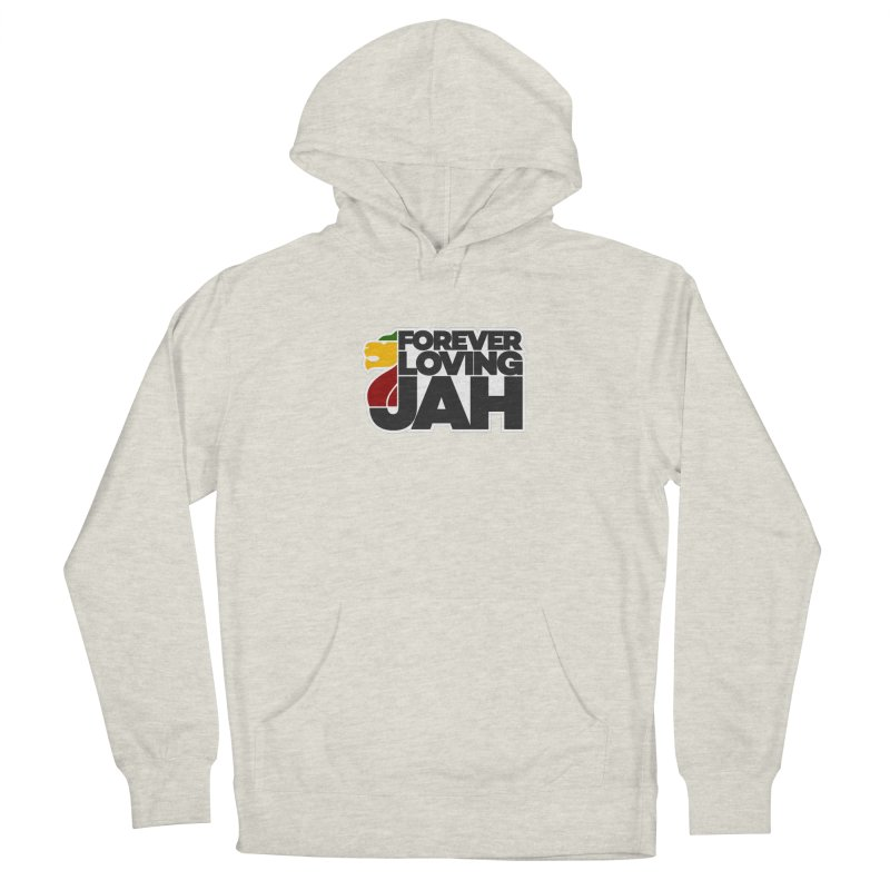 Forever Loving Jah Men's French Terry Pullover Hoody by Rasta University Shop