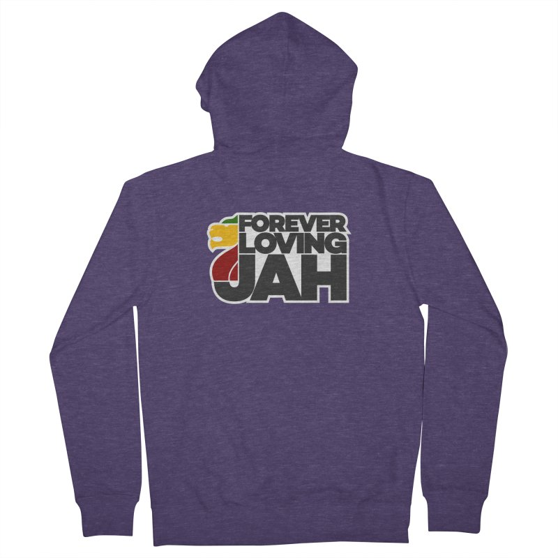 Forever Loving Jah Men's French Terry Zip-Up Hoody by Rasta University Shop