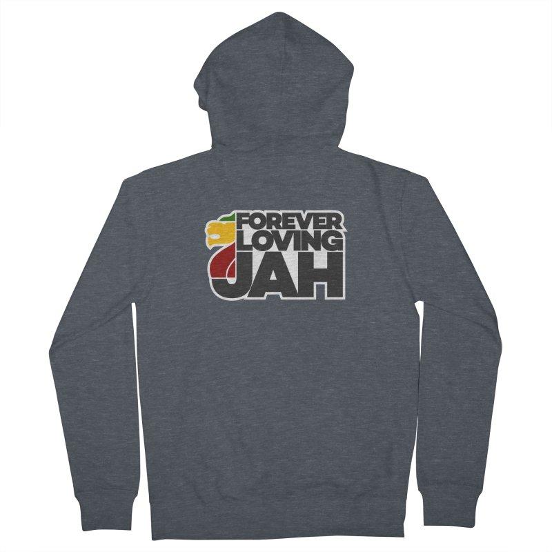 Forever Loving Jah Men's Zip-Up Hoody by Rasta University Shop