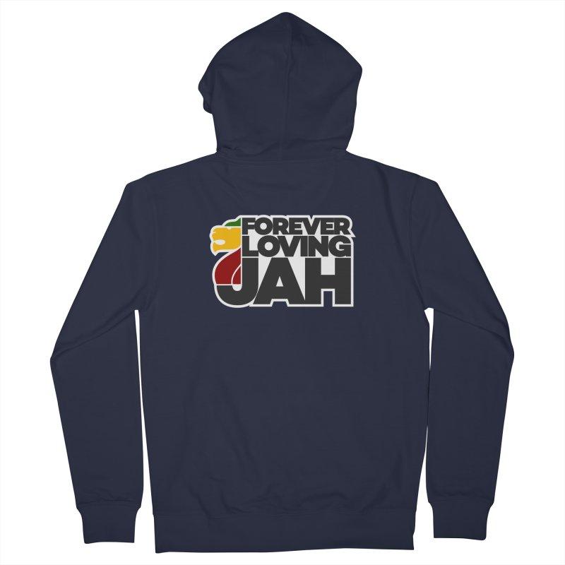Forever Loving Jah Men's French Terry Zip-Up Hoody by Rasta University Shop