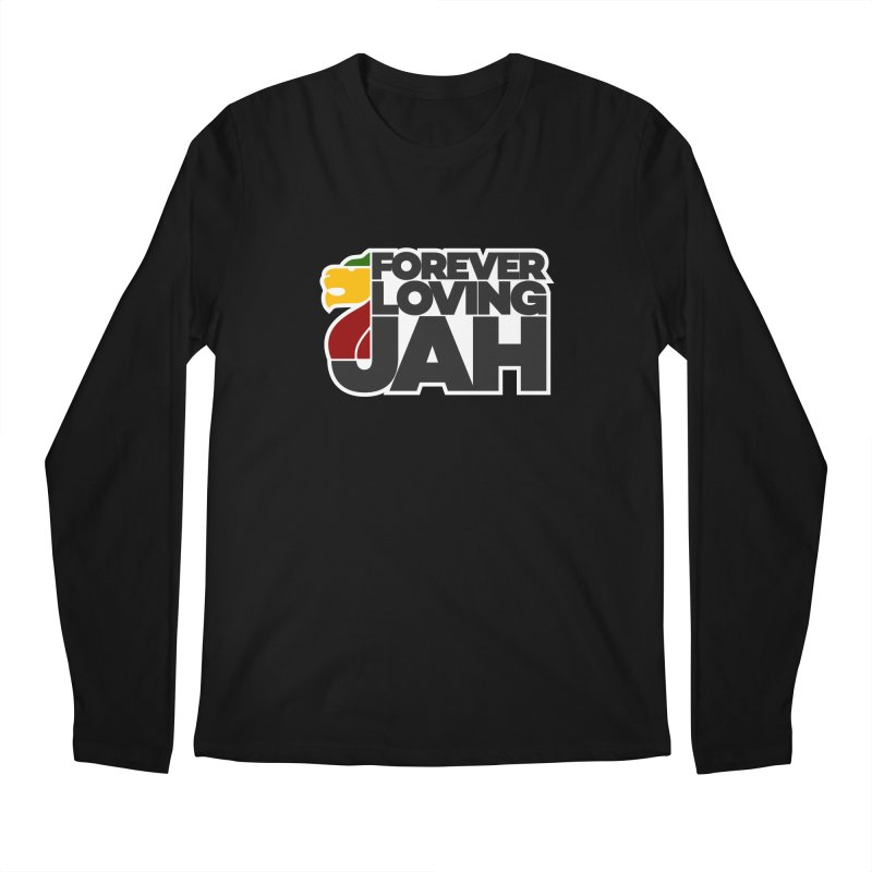 Forever Loving Jah Men's Regular Longsleeve T-Shirt by Rasta University Shop